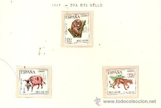 EDIFIL Nº 80-82 RIO MUNI DIA DEL SELLO 1967 NUEVO (Sellos - España - Colonias Españolas y Dependencias - África - Río Muni)