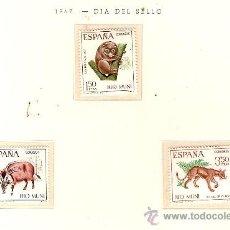 Sellos: EDIFIL Nº 80-82 RIO MUNI DIA DEL SELLO 1967 NUEVO . Lote 14014815