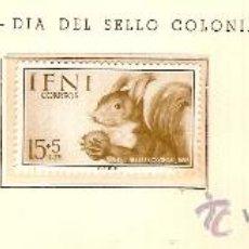 Sellos: EDIFIL Nº 125-127 IFNI DIA DEL SELLO COLONIAL 1955 SEÑAL FIJASELLOS OXIDO . Lote 14015082