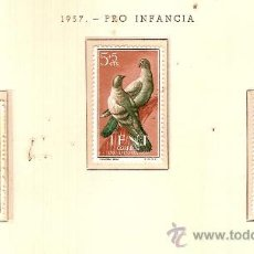 Sellos: EDIFIL Nº 135-137 IFNI PRO INFANCIA 1957 SEÑAL FIJASELLOS . Lote 14015098