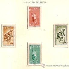 Sellos: EDIFIL Nº 145-148 PRO INFANCIA 1958 SEÑAL FIJASELLOS . Lote 14015118