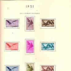 Sellos: EDIFIL Nº 163-171 IFNO SERIE BASICA 1960 SEÑAL FIJASELLOS . Lote 25377044