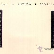 Sellos: EDIFIL Nº 193-194 IFNI AYUDA A SEVILLA 1963 SEÑAL FIJASELLOS . Lote 14016017