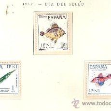 Sellos: EDIFIL Nº 230-232 IFNI DIA DEL SELLO 1967 NUEVO . Lote 14016188