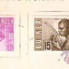 Sellos: GUINEA ESPAÑOLA PRO INDIGENAS 1953 EDIFIL Nº 321-324 SEÑAL FIJASELLOS . Lote 14034024