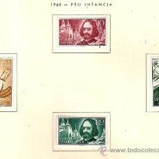 Sellos: SAHARA ESPAÑOL EDIFIL Nº 172-175 PRO INFANCIA 1960 FIJASELLOS . Lote 14296899