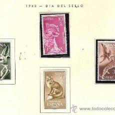 Sellos: SAHARA ESPAÑOL EDIFIL Nº 176-179 DIA DEL SELLO 1960 FIJASELLOS . Lote 14296921