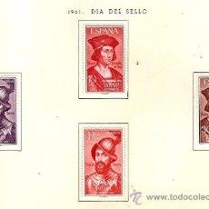 Sellos: SAHARA ESPAÑOL EDIFIL Nº 197-200 DIA DEL SELLO 1961 FIJASELLOS . Lote 14308547