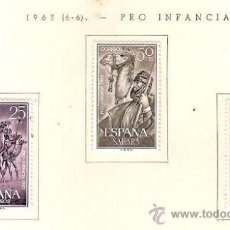 Sellos: SAHARA ESPAÑOL EDIFIL Nº 217-219 PRO INFANCIA 1963 FIJASELLOS . Lote 14308632