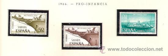SAHARA ESPAÑOL EDIFIL Nº 249-251 PRO INFANCIA 1966 NUEVO (Sellos - España - Colonias Españolas y Dependencias - África - Sahara)