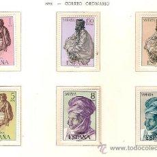 Sellos: SAHARA ESPAÑOL EDIFIL Nº 297-302 CORREO ORDINARIO 1972 NUEVO . Lote 27226633