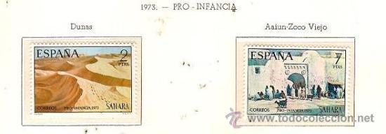 SAHARA ESPAÑOL EDIFIL Nº 310-311 PRO INFANCIA 1973 NUEVO (Sellos - España - Colonias Españolas y Dependencias - África - Sahara)