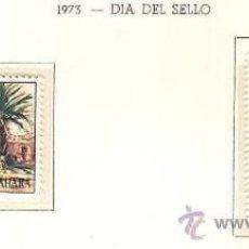 Sellos: SAHARA ESPAÑOL EDIFIL Nº 312-313 DIA DEL SELLO 1973 NUEVO . Lote 14308935