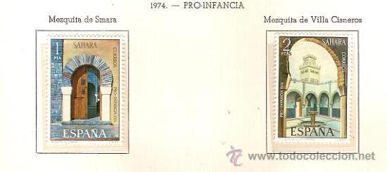 SAHARA ESPAÑOL EDIFIL Nº 314-315 PRO INFANCIA 1974 NUEVO (Sellos - España - Colonias Españolas y Dependencias - África - Sahara)