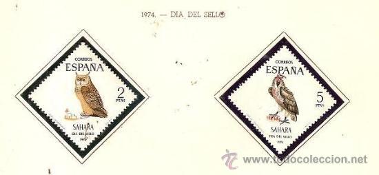 SAHARA ESPAÑOL EDIFIL Nº 317-318 DIA DEL SELLO 1974 NUEVO (Sellos - España - Colonias Españolas y Dependencias - África - Sahara)