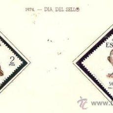 Sellos: SAHARA ESPAÑOL EDIFIL Nº 317-318 DIA DEL SELLO 1974 NUEVO . Lote 14308978
