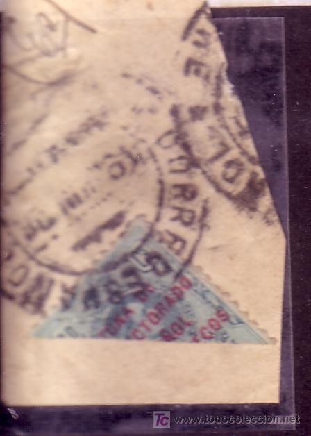 MARRUECOS.- EDIFIL Nº 63 ALFONSO XIII BISECTADO SOBRE FRAGMENTO MATASELLADO. (Sellos - España - Colonias Españolas y Dependencias - África - Marruecos)