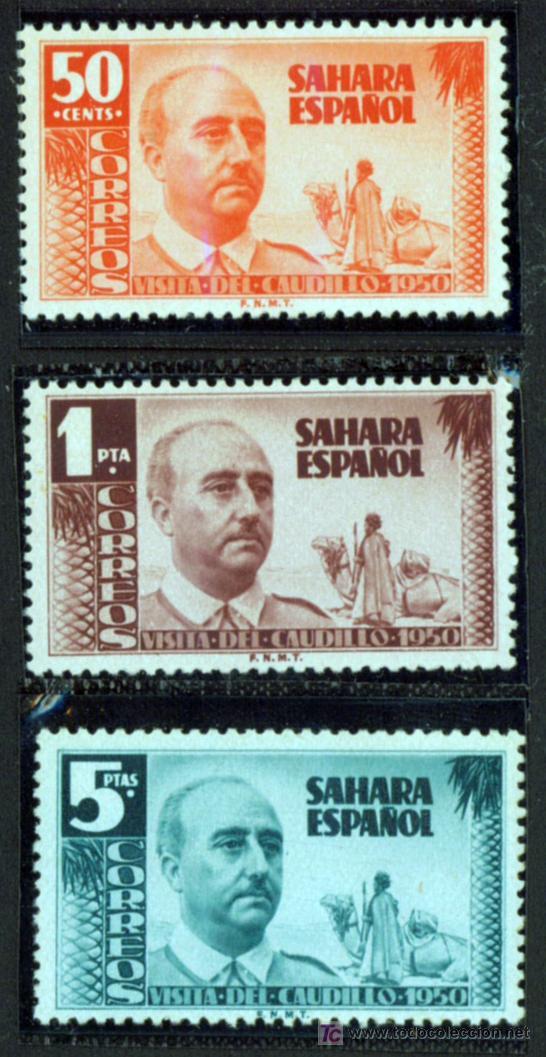 SELLO DE SAHARA 1951 - VISITA DEL CAUDILLO - NUEVO SERIE COMPLETA (Sellos - España - Colonias Españolas y Dependencias - África - Sahara)