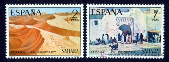 SELLO DE SAHARA 1973 - PRO INFANCIA- SERIE COMPLETA - NUEVO - (Sellos - España - Colonias Españolas y Dependencias - África - Sahara)