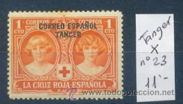 TANGER 1926 - PRO CRUZ ROJA - EDIFIL Nº 23* (Sellos - España - Colonias Españolas y Dependencias - África - Tanger)