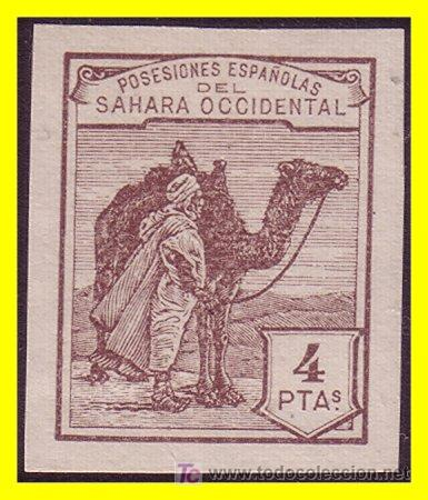 SAHARA 1937 DROMEDARIO E INDÍGENA, SIN DENTAR Nº NE9 * (Sellos - España - Colonias Españolas y Dependencias - África - Sahara)