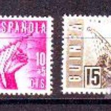 Sellos: GUINEA ESPAÑOLA***.SERIE COMPLETA EDIFIL NR.321/324.PRO INDIGENAS.MUSICA.. Lote 27960589