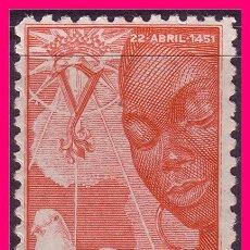 Sellos: IFNI 1951 V CENT. NACIMIENTO DE ISABEL, EDIFIL Nº 72 * *. Lote 20674319