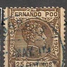 Sellos: DEPENDENCIAS POSTALES. FERNANDO POO.. Lote 26272658