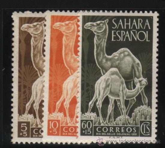 S-2107- SAHARA. DIA DEL SELLO 1951. DROMEDARIOS (Sellos - España - Colonias Españolas y Dependencias - África - Sahara)