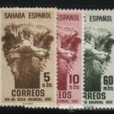 Sellos: S-2110- SAHARA. DIA DEL SELLO 1952. AVES. Lote 21470909