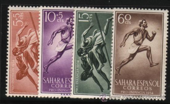S-2116- SAHARA. PRO INFANCIA 1954. DEPORTES (Sellos - España - Colonias Españolas y Dependencias - África - Sahara)