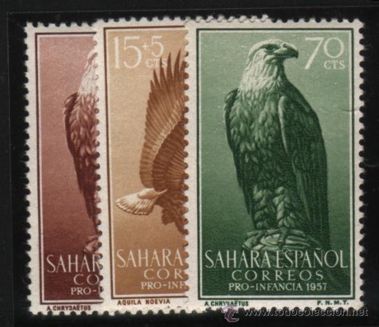 S-2123- SAHARA. PRO INFANCIA 1957. AVES (Sellos - España - Colonias Españolas y Dependencias - África - Sahara)