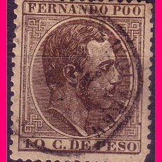 Timbres: FERNANDO POO 1884 ALFONSO XII, EDIFIL Nº 8 (O). Lote 21727925