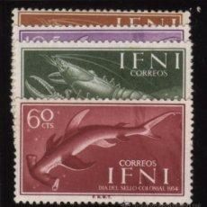 Sellos: S-5862- IFNI. DIA DEL SELLO 1954. PECES. Lote 33979007