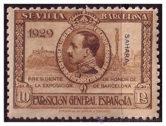 SAHARA 1929 EXPOSICIONES DE SEVILLA Y BARCELONA, EDIFIL Nº 35 * * (Sellos - España - Colonias Españolas y Dependencias - África - Sahara)