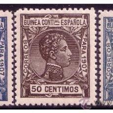 Sellos: GUINEA 1907 ALFONSO XIII, EDIFIL Nº 50 A 52 * . Lote 23601996
