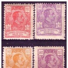 Sellos: RÍO DE ORO 1921 ALFONSO XIII, EDIFIL Nº 137 A 140 * * . Lote 23654370