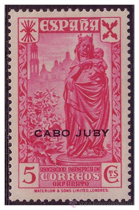 CABO JUBY BENEFICENCIA 1938 Hª DEL CORREO HABILITADOS, EDIFIL Nº 1 * (Sellos - España - Colonias Españolas y Dependencias - África - Cabo Juby)