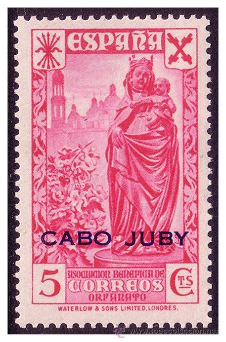 CABO JUBY BENEFICENCIA 1942 Hª DEL CORREO HABILITADOS, EDIFIL Nº 12 * * (Sellos - España - Colonias Españolas y Dependencias - África - Cabo Juby)