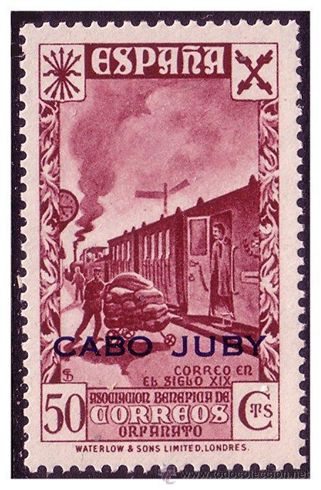 CABO JUBY BENEFICENCIA 1942 Hª DEL CORREO HABILITADOS, EDIFIL Nº 15 * * (Sellos - España - Colonias Españolas y Dependencias - África - Cabo Juby)