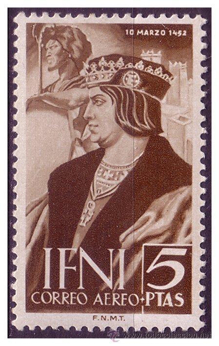 IFNI 1952 V CENT. DE FERNANDO EL CATÓLICO, EDIFIL Nº 82 * * (Sellos - España - Colonias Españolas y Dependencias - África - Ifni)