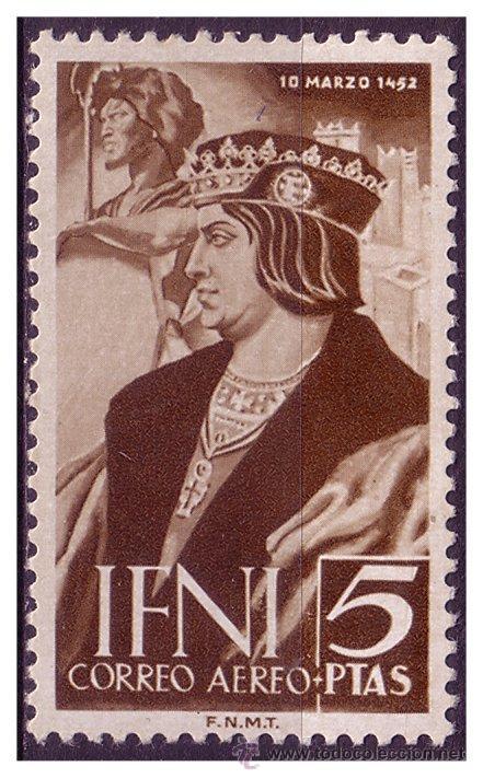 IFNI 1952 V CENT. DE FERNANDO EL CATÓLICO, EDIFIL Nº 82 * (Sellos - España - Colonias Españolas y Dependencias - África - Ifni)