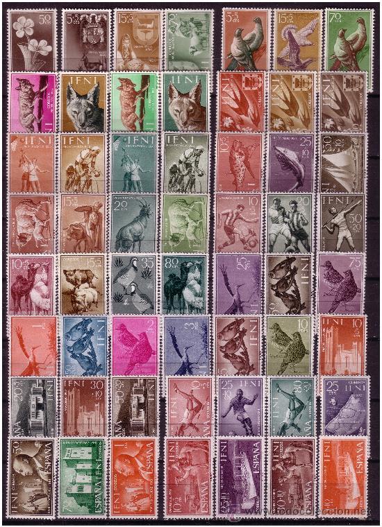 Sellos: IFNI Colección completa 1950 a 1968, Edifil nº 71 a 238 * - Foto 2 - 23884888