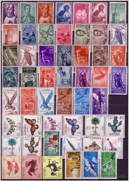 Sellos: IFNI Colección completa 1950 a 1968, Edifil nº 71 a 238 * - Foto 3 - 23884888