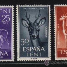 Sellos: S-2850- IFNI. PRO INFANCIA 1964. ANIMALES. Lote 23884245