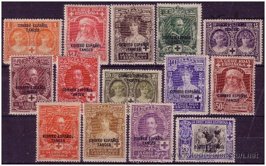 TÁNGER 1926 PRO CRUZ ROJA ESPAÑOLA, EDIFIL Nº 23 A 36 * * (Sellos - España - Colonias Españolas y Dependencias - África - Tanger)