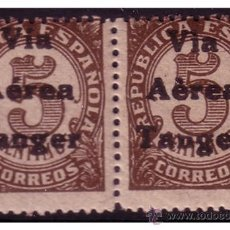 Francobolli: TÁNGER 1938 SELLOS DE ESPAÑA HABILITADOS, B2 EDIFIL Nº 128 * * VARIEDAD, TILDES. Lote 23923672