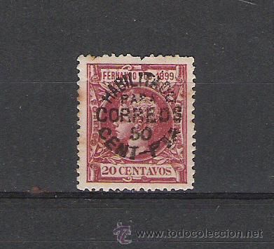 FERNANDO POO SELLO DE 1899 TELEGRAFOS SOBRECARGADO (Sellos - España - Colonias Españolas y Dependencias - África - Fernando Poo)