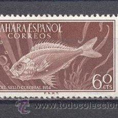 Sellos: SAHARA ESPAÑOL- 1954 DIA DEL SELLO COLONIAL- PECES-NUEVO. Lote 24553241