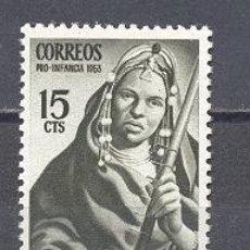 Sellos: SAHARA ESPAÑOL- PRO INFANCIA 1953- NUEVO. Lote 24553488